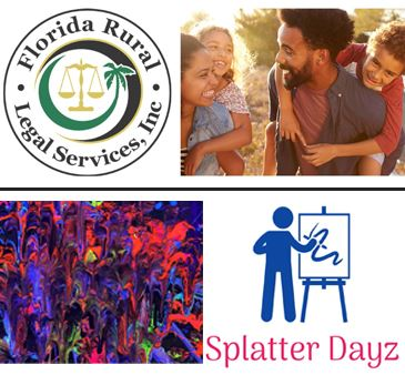 Business Spotlight Florida Rural Legal Services Incorporated and Splatter Dayz logos Family Painting