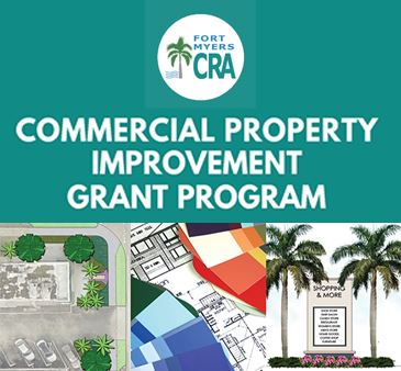 Fort Myers Community Redevelopment Logo Commercial Property Improvement Grant Program Renderings