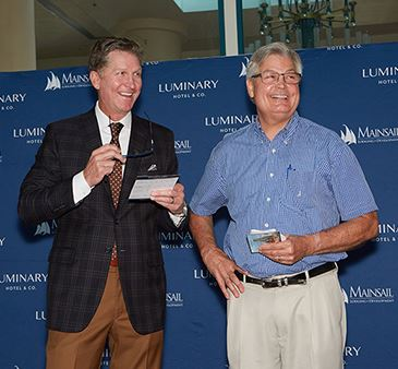 Mainsail's Joe Collier & Fort Myers Mayor Randall P. Henderson, Jr., at the indoor ceremony for L