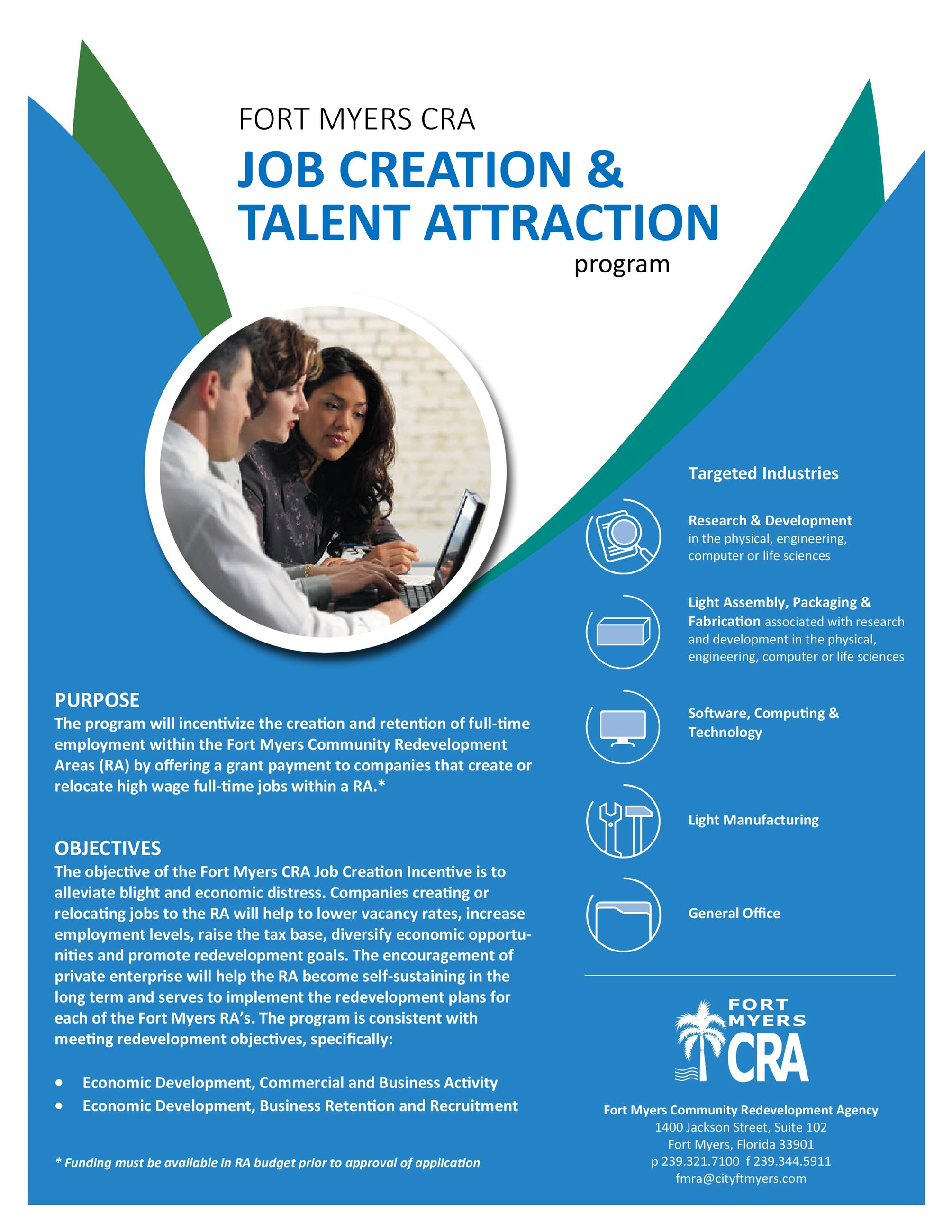 CRA Job Creation and Talent Attraction Program Guide Opens in new window