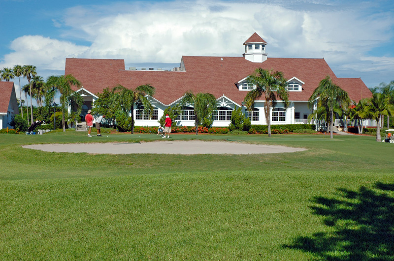Wide View of Back of Fort Myers Country Club